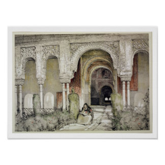 Entrance to the Hall of the Two Sisters (Sala de l Poster
