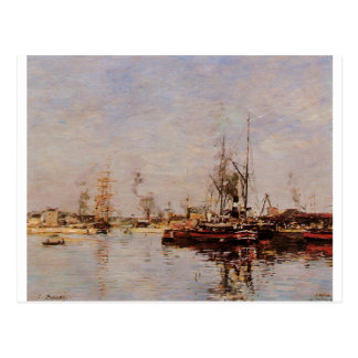 Entrance to the Port of Le Havre by Eugene Boudin Postcard
