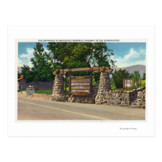 Entrance to Whiteface Mt. Highway Postcard