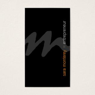 Entrepreneur Bold Script Monogram Business Card