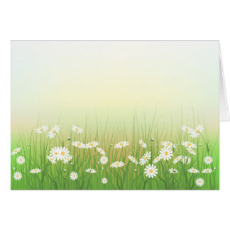 Envelop  with chamomile lawn greeting card