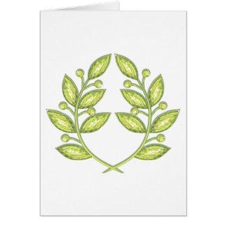 Envelop with crystal laurel wreath greeting cards