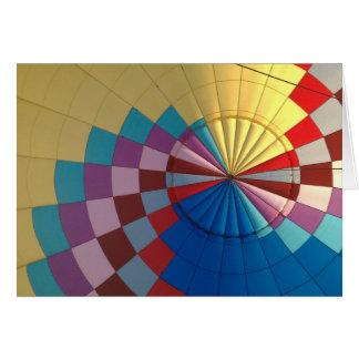Envelope hot air balloon greeting card