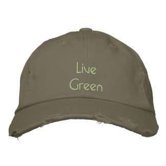 Environmental Baseball Cap 'Live Green'