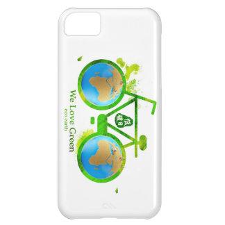 Environmental eco-friendly green bike iphone case