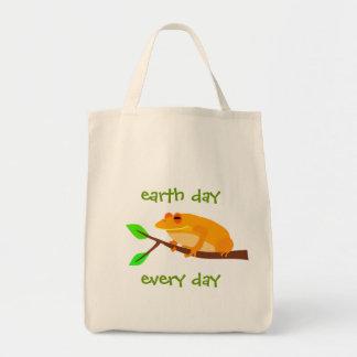 Environmental Frog Tote Bag
