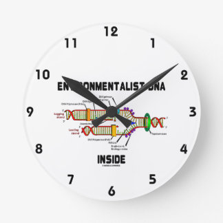 Environmentalist DNA Inside (DNA Replication) Round Clock