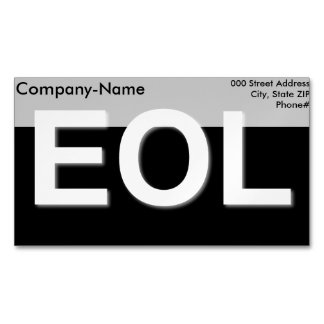EOL End Of Life Magnetic Business Cards