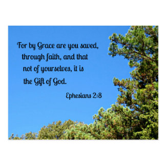 Ephesians 2:8 For by grace are ye saved... Postcard
