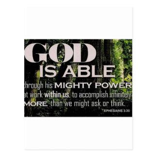 Ephesians 3:20 postcard