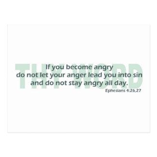 Ephesians 4: 26-27 postcard