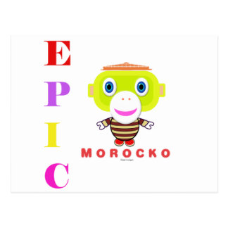EPIC-Cute Monkey-Morocko Postcard