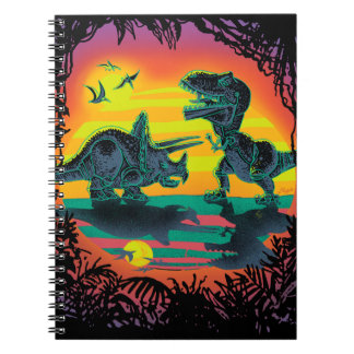 EPIC DINOSAUR BATTLE at Prehistoric Dawn Notebook