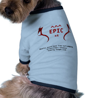 Epic Doggie T Ringer Dog Shirt