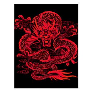 Epic Dragon Red Postcard