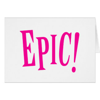 Epic Girl Power Hot Pink Card