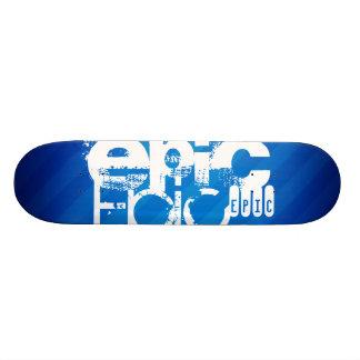 Epic Royal Blue Stripes Custom Skate Board