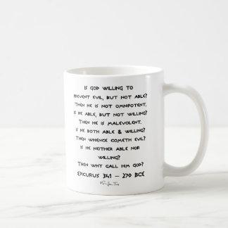 Epicurus - Why call him god? - Plain Basic White Mug