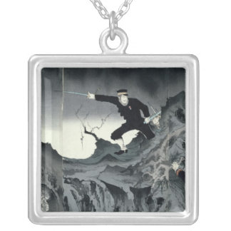 Episode from the Sino-Japanese war Silver Plated Necklace