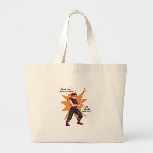 EQTC Chocolate Canvas Bags