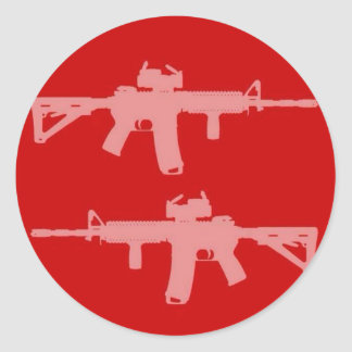 Equal gun rights ar15 classic round sticker