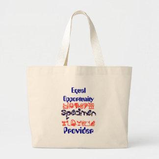 Equal Opportunity Specimen Provider Jumbo Tote Bag