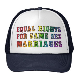 Equal Rights for Same Sex Marriages Cap