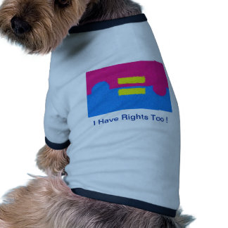 Equal Rights Logo, Impressionist's Style Dog Tee Shirt
