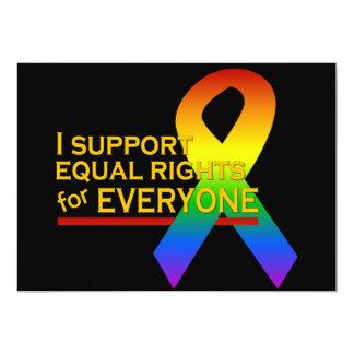 Equal Rights Supporter invitation, customize 13 Cm X 18 Cm Invitation Card