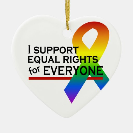 Equal Rights Supporter ornament, customize