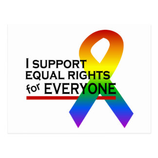Equal Rights Supporter postcard customize
