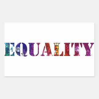 Equality for all design rectangular sticker