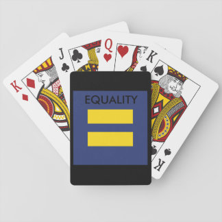 EQUALITY Logo Playing Cards