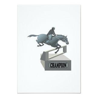 Equestrian Champion 13 Cm X 18 Cm Invitation Card