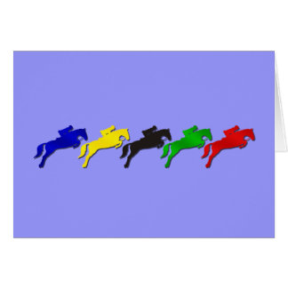 Equestrian dressage and show jumping horse card