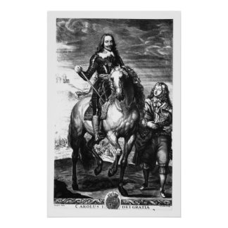 Equestrian portrait of Charles I Poster