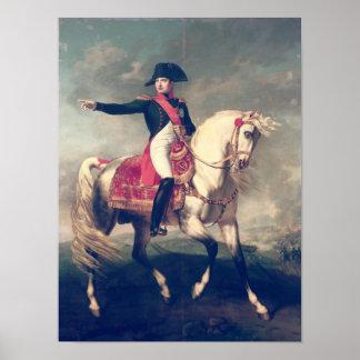Equestrian Portrait of Napoleon I  1810 Poster