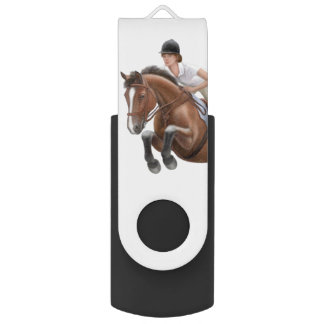 Equestrian Show Jumper Horse USB Flash Drive