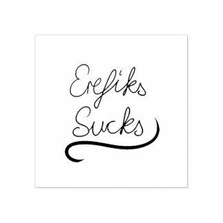 EREFIKS Sucks Rubber Stamp incl. pink ink