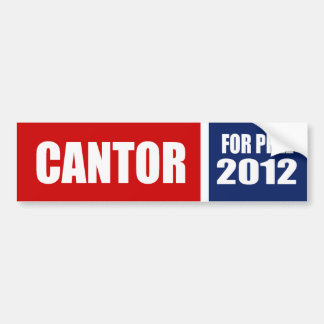 ERIC CANTOR 2012 BUMPER STICKERS