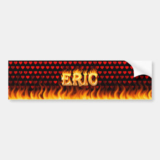 Eric real fire and flames bumper sticker design.