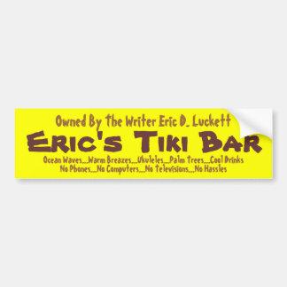 Eric s Tiki Bar Bumper Sticker 002