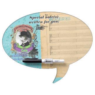Erik Catie Cat Animal Composer Satie Spoof Dry Erase Board