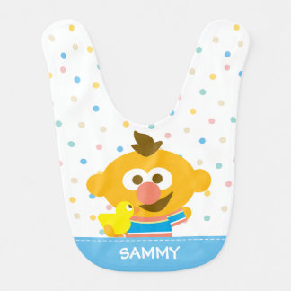 Ernie Baby Face and Duckie | Add Your Name Bib