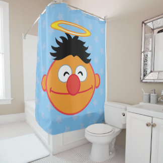 Ernie Smiling Face with Halo Shower Curtain