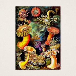 Ernst Haeckel Sea Anemones Vintage Art Business Card