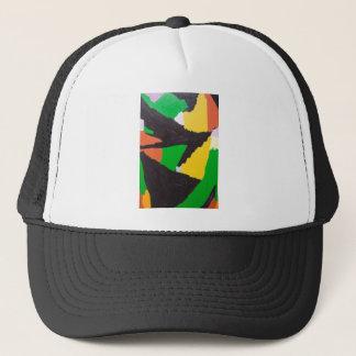 Erosive Black Jigsaw Curves Trucker Hat