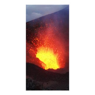 Erupting Tolbachik Volcano in Kamchatka. Russia Card