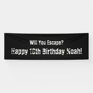 """Escape Room"" Party Banner"