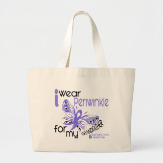 Esophageal Cancer PERIWINKLE FOR MY GRANDFATHER Jumbo Tote Bag